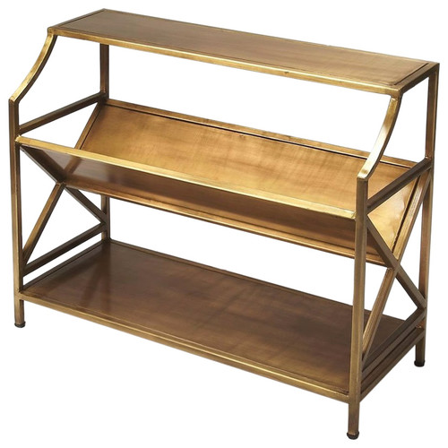 Butler Modern Librarie Bookcase, Gold
