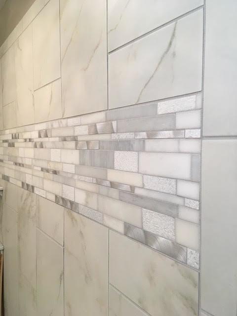 Grey & White Bathroom Remodel