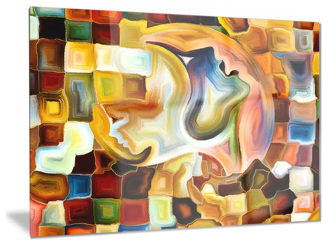 Way Of Inner Paint Glossy Metal Wall Art 28 X12