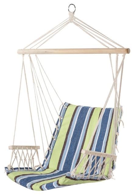 Prime Garden Hanging Rope Chair Cotton Swing Chair Hammock Seat Beach Style  Hammocks