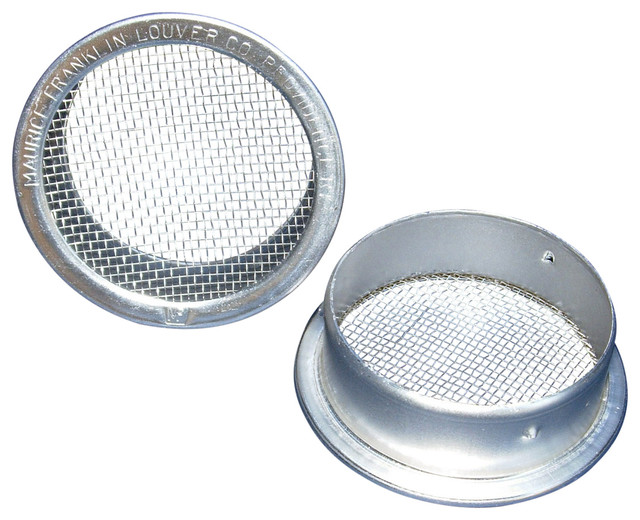 """2.5"""" Round Open Screen Vent, Mill, Set Of 4."""