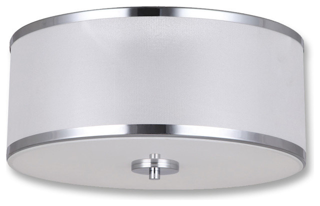 Portland Collection Two Lights Flushmount Fixture