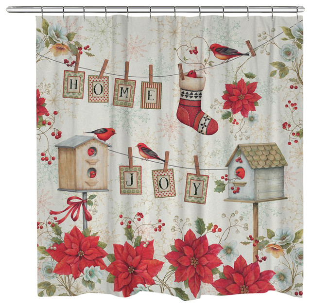 Laural Home Holiday Wings Shower Curtain