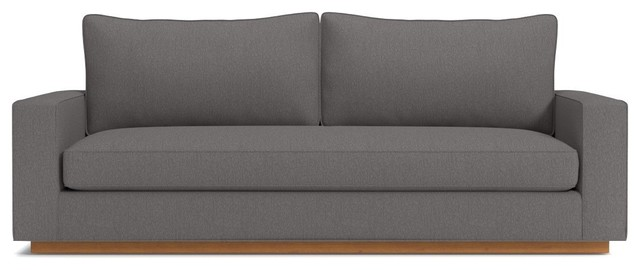 Harper Queen Sleeper Sofa, Memory Foam Mattress, Chromium.