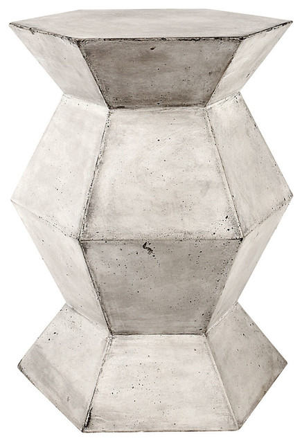 Flanery Accent Table, Polished Concrete