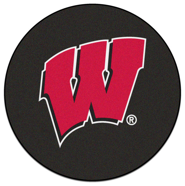 Shop Houzz Fanmats Wisconsin Badgers Hockey Puck Area Rug Area Rugs