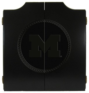 Michigan Wolverines Laser Engraved Tournament Dart Board