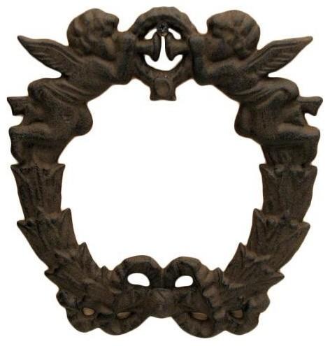 Cast Iron Cherub Wreath.
