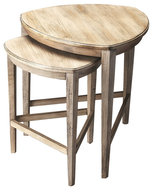 Nesting Tables Set Of 2 Driftwood Contemporary Coffee Table Sets
