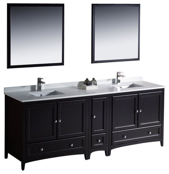 84 Inch Double Sink Bathroom Vanity Traditional