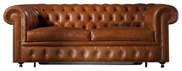Stupendous Chesterfield Two Seat Sofa Bed Camel Leather Creativecarmelina Interior Chair Design Creativecarmelinacom