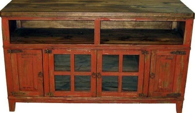 Rustic Antique Red 60 Tv Stand Entertainment Centers And Stands By San Carlos Imports Llc