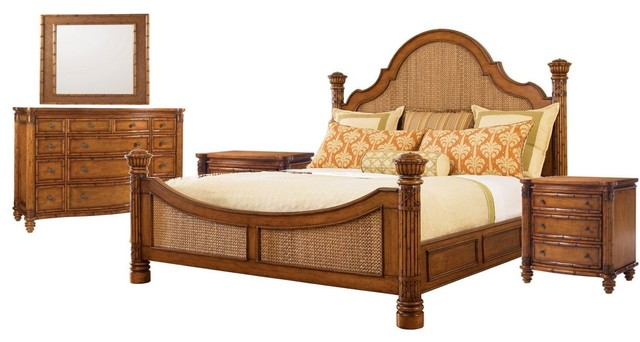 Tommy Bahama Home Island Estate Round Hill 5-Piece Bed Set 1, California  King