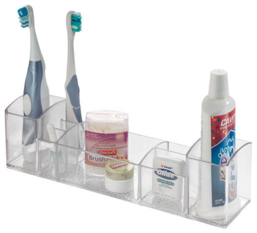 Clear Bathroom Vanity Organizer, Medium.