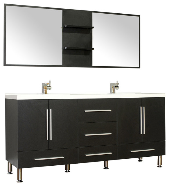 "alya bath alya bath at "" double modern bathroom vanity, Home design"