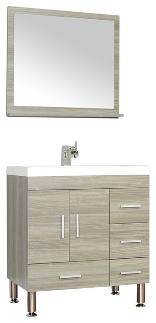 The Modern 30 inch Single Modern Bathroom Vanity Gray without