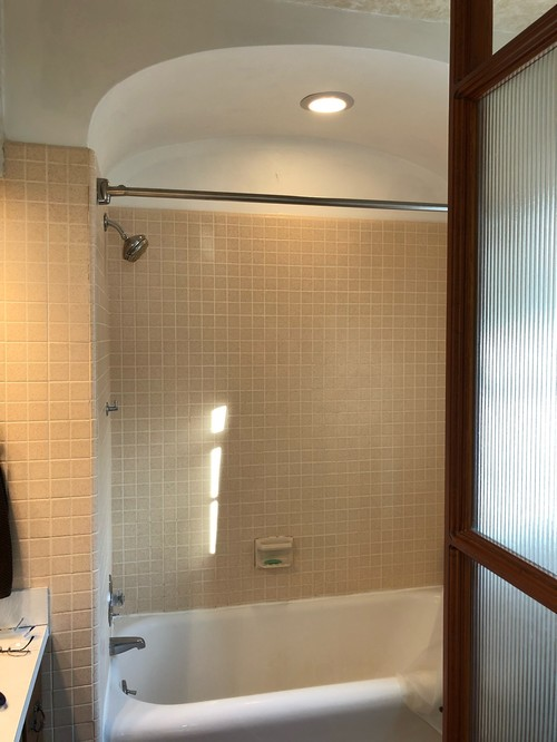 Anyone Have Any Thoughts On What Tile Should Go On The Barrel Ceiling Above  The Tub?