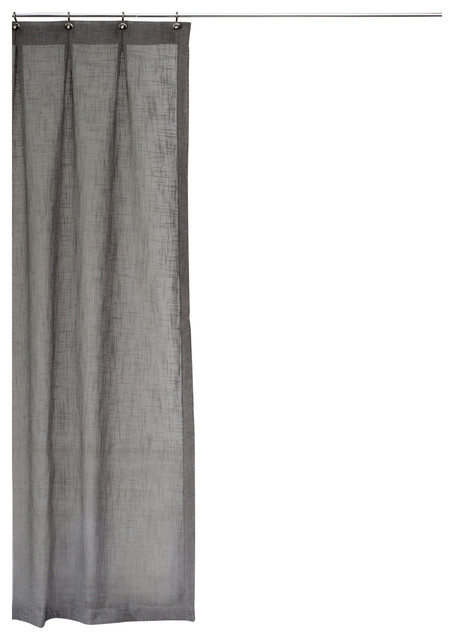 extra long shower curtain gray 72x75