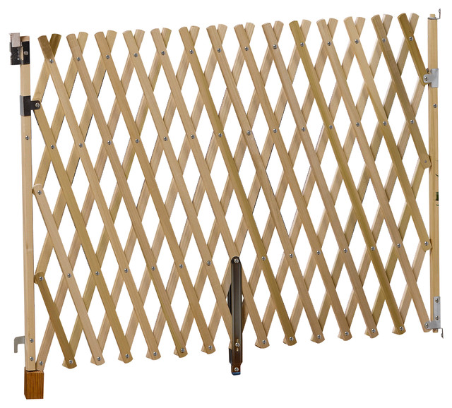5u0027 Wood Expansion Gate, Top Of Stairs Rated