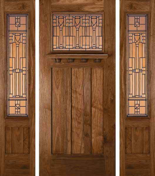 Jeld Wen 385 Walnut Door And Sidelights Chappo Finish