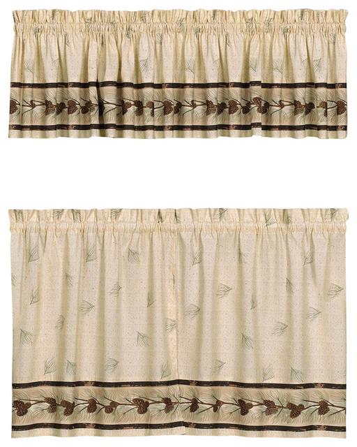 - Pinehaven Pinecones Kitchen Curtain