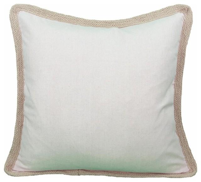Xia Home Fashions - Square Jute Trimmed Pillow & Reviews Houzz