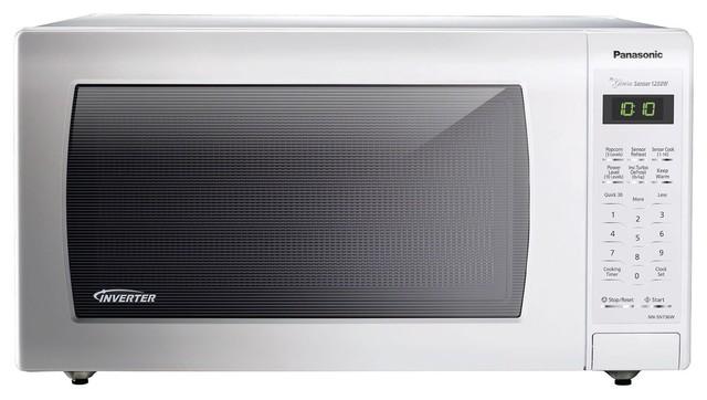 Panasonic 1 6 Cu 1250 Watt White Body Door Nn Sn736w Contemporary Microwave Ovens By Goodwinecoolers