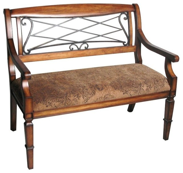 Safavieh Gramercy Iron/cherry Bench.