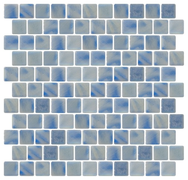 Gl Mosaic Tile Blue Gray