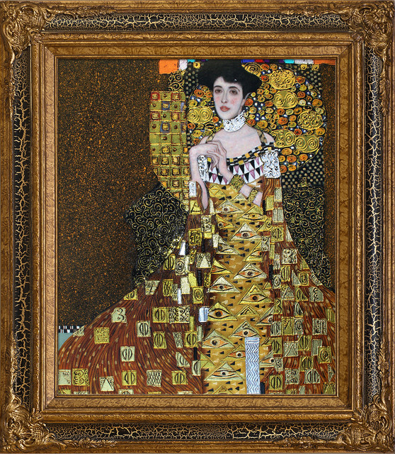 klimt portrait of adele bloch bauer i luxury line modern paintings by overstockart. Black Bedroom Furniture Sets. Home Design Ideas