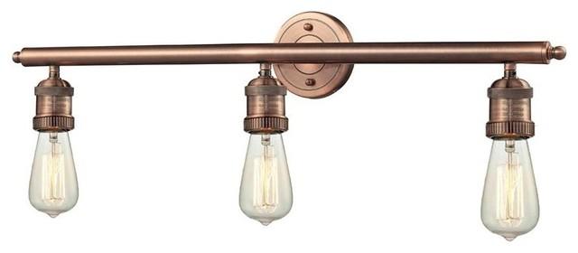 Bare Bulb 3 Light Wall Bracket - Industrial - Bathroom Vanity ...