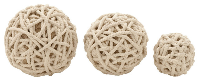 Decorative Rope Balls Cool Benzara  Trendy Cotton Rope Balls 3Piece Set  View In Your Inspiration Design
