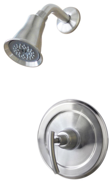 Shop Houzz Ultra Faucets Ultra Faucets Brushed Nickel 1 Handle Contemp Tub