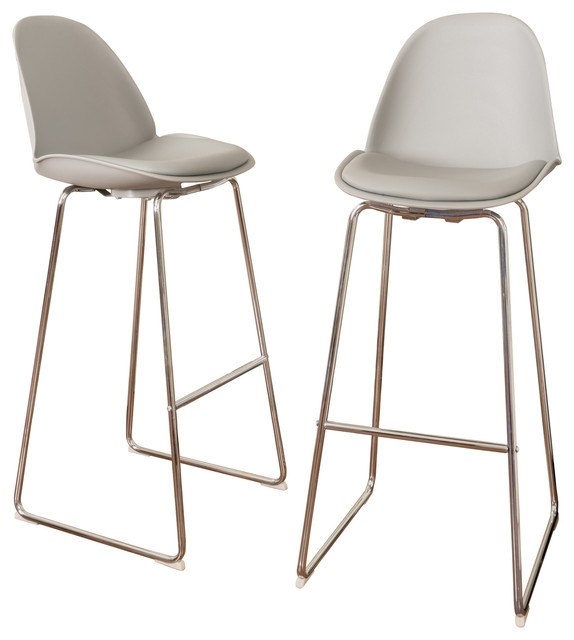 Torney Contemporary Gray Bar Chairs, Set Of 2.