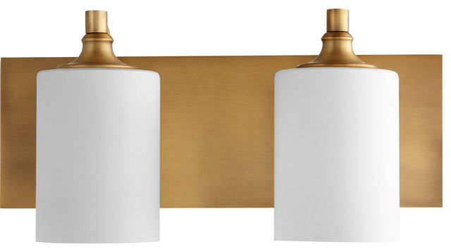 Celeste Bathroom Vanity Light in Aged Brass