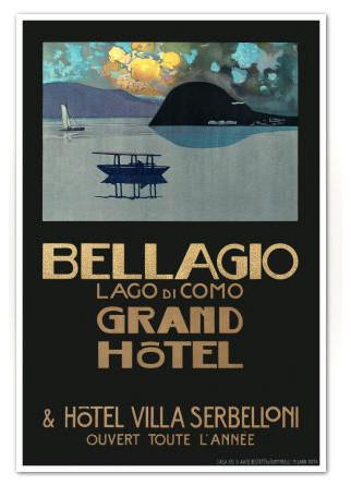 ff08dfe31a5 Bellagio Lago di Como Vintage Italian Travel Poster Art Print - Midcentury  - Prints And Posters - by Foxglove Prints
