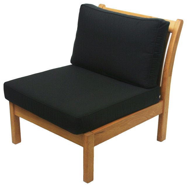 Garden Kamea Armless Chair, Black Cushion
