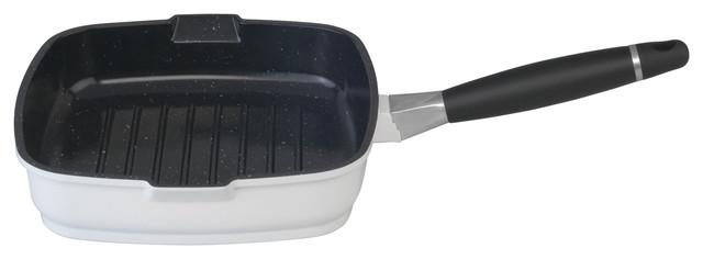 Virgo 9 1/2&x27;&x27; Grill Pan, White.