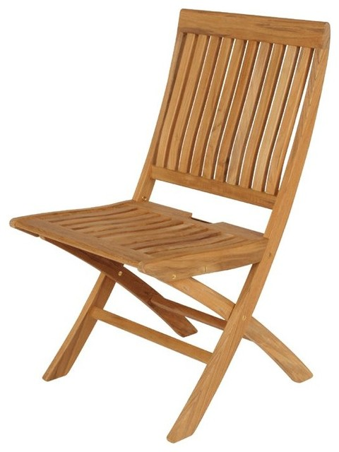 Teak Folding Chair barlow tyrie monaco teak folding side chair - contemporary