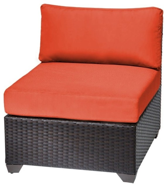 Bowery Hill Armless Patio Chair In