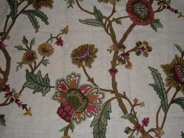 Crewel Fabric World By Mds Crewel Fabric Shalimar