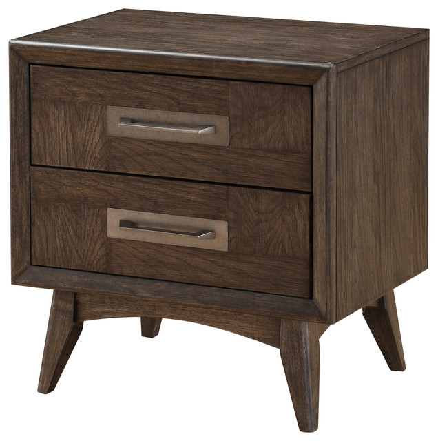 Emerald Home Millenium 2 Drawer Nightstand.