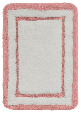 Coral White Luxury Plush Non Slip Bath Mat Rug, Small 17 X 24 Inches  Contemporary