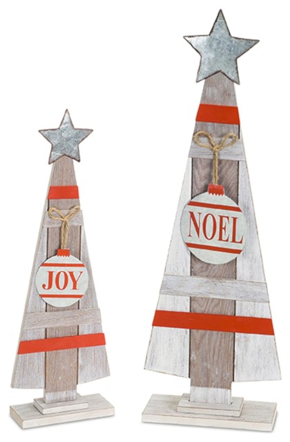 "2-Piece ""joy"" And ""noel"" Tree Set."