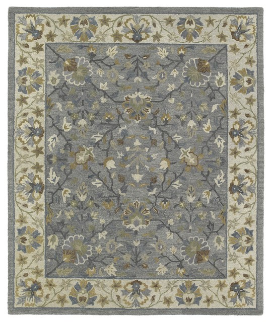 Kaleen Brooklyn Brody Rug: Kaleen Brooklyn Collection Rug, Pewter
