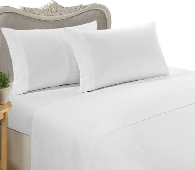 1500 Thread Count Egyptian Cotton Solid Bed Sheet Set