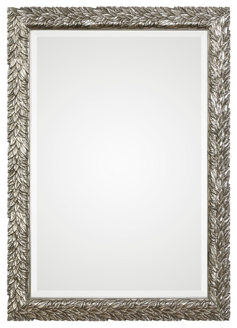 Evelina Silver Leaves Mirror.