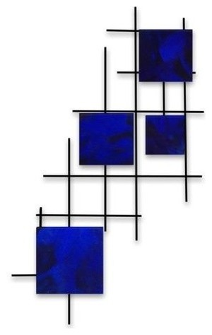 Satellite Squares, Candy Blue.