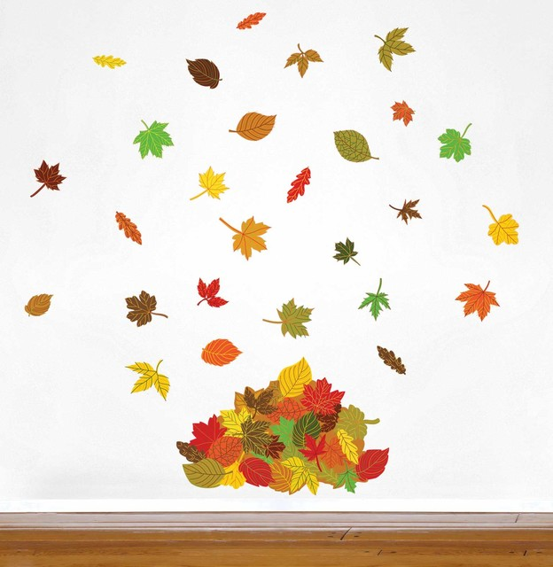 Falling Leaves Wall Decor : Falling leaves wall decal contemporary decals