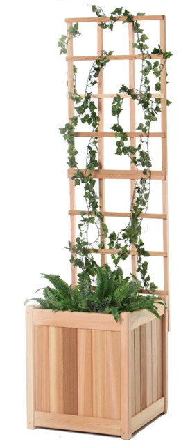 2-Piece Planter With Trellis.